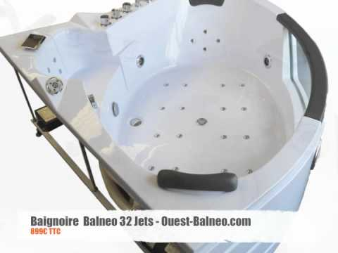 baignoire balneo d 39 angle 32 jets massants 899 ouest youtube. Black Bedroom Furniture Sets. Home Design Ideas