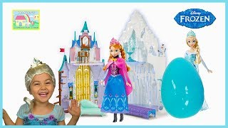 Anna Tricks Elsa at Frozen Castle and Monster Chases Princess!