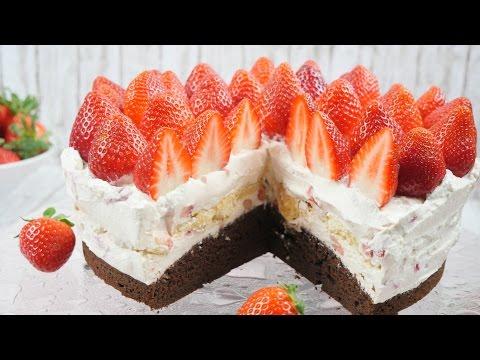 Erdbeer Tiramisu Torte I Erdbeer Mascarpone Torte I Muttertags-Torte