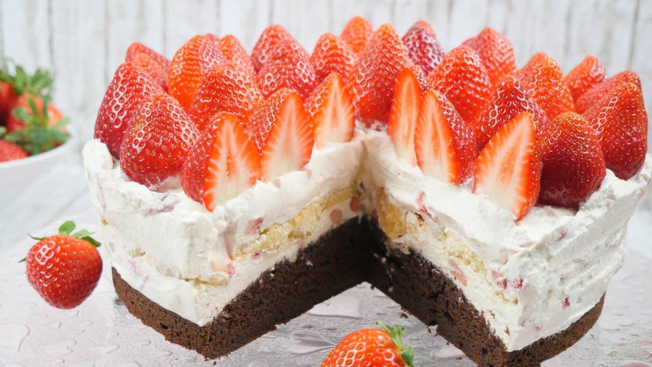 Erdbeer Tiramisu Torte I Erdbeer Mascarpone Torte I Muttertags Torte