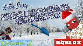 Simulatore Di Snow Shoveling Giochiamo Roblox Ep.