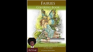 Fairies Coloring Book Flip through