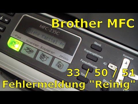 Brother MFC Fehler Druck 33 oder 50 oder 51 beheben