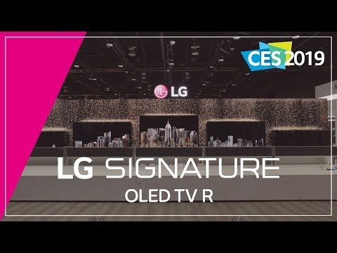 LG at CES 2019 - LG SIGNATURE OLED Rollable TV