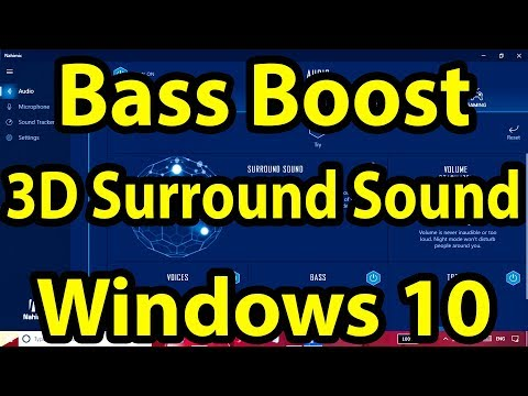 🔊Bass Boosted 3D Sound for Any Windows 10 PC || 3D Surround Sound || Nahimic 3 ||