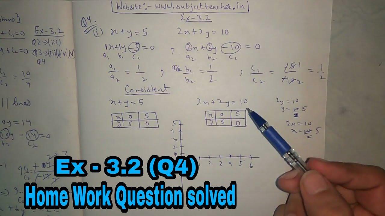 Chapter 3 Exercise 3 2 (Q4) class 10 maths    NCERT