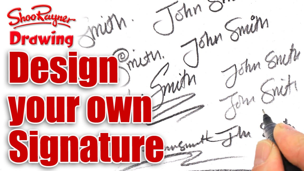 How to design your own amazing signature - YouTube