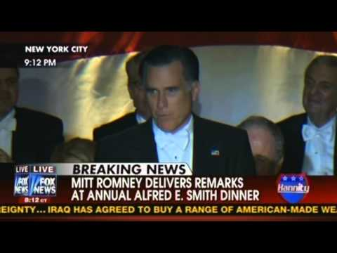 Mitt Romney & Obama's Roasts at Alfred E. Smith Dinner