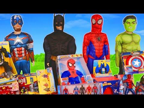 Avengers Superhero Toys: الخارقون ، باتمان ، الرجل العنكبوت والمركبات للأطفال