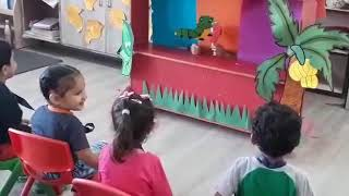 Toddlers at MRIS, Charmwood enjoyed puppet show
