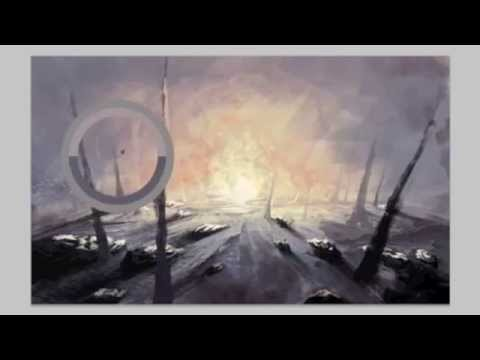 Abstract environment landscape painting, digital, timelapse with photoshop CS5