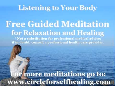 Free guided meditation audio for deep relaxation and healing