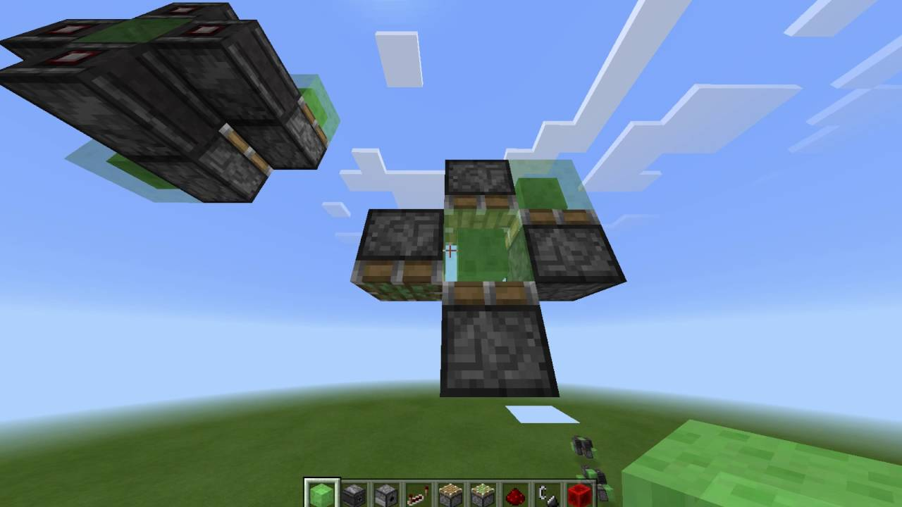MCPE: Two way vertical semi-auto flying machine + tutorial