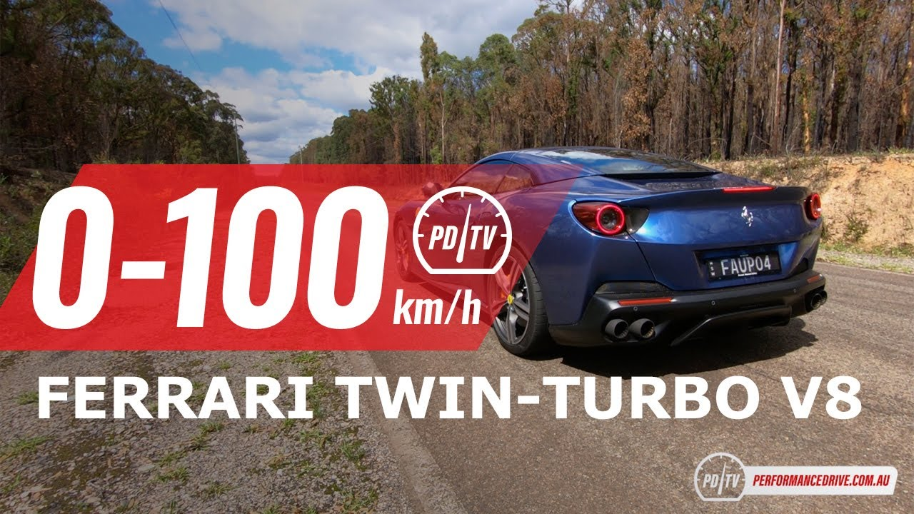 2020 Ferrari Portofino 0 100km H Engine Sound Youtube