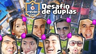 DESAFIO DE CLASH ROYALE - Atchiin, Gelli Clash, Caju TV, Belgas TV, Clash On, Clash War e Gustovow