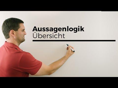 Aussagenlogik (Beweis), Konjunktion, Disjunktion, Äquivalenz, Verneinung, Implikation | Daniel Jung from YouTube · Duration:  3 minutes 20 seconds