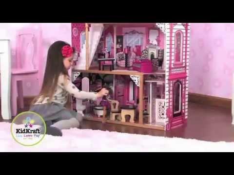 maison de poup e am lia kidkraft youtube. Black Bedroom Furniture Sets. Home Design Ideas