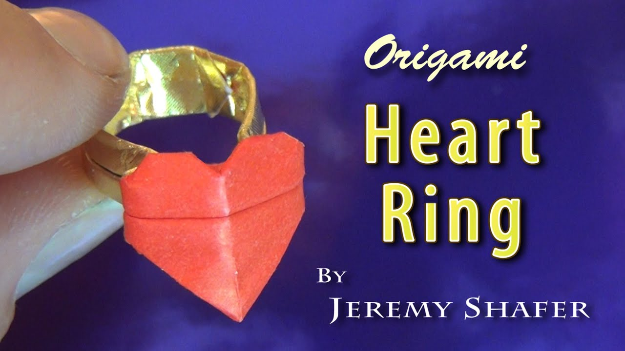 Origami Heart Ring - YouTube - photo#19