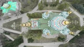 Парк имени 28 гвардейцев-панфиловцев с высоты птичьего полета.  г. Алматы 2015 г.