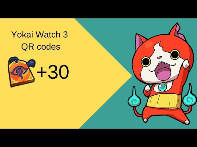 Yokai Watch 3 Qr codes