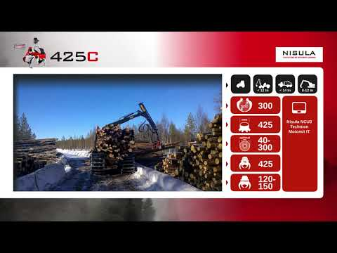 Video brochure of Nisula 425C harvester head