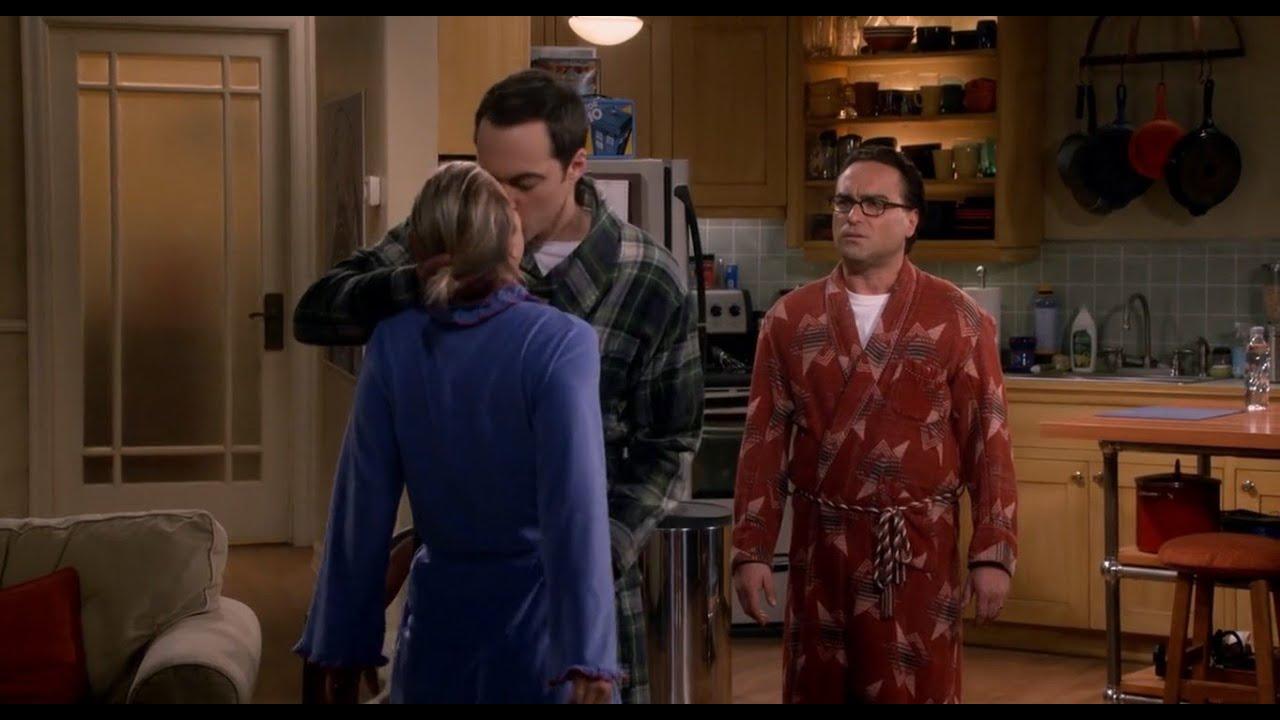 Sheldon kisses penny - YouTube