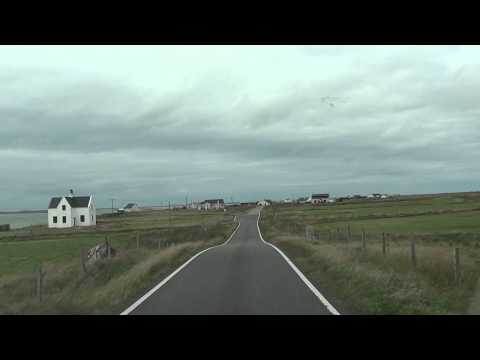 Driving on North Uist, Outer Hebrides, Scotland