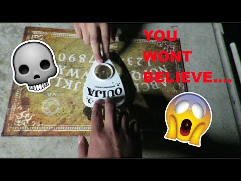 SECOND TIME PLAYING THE OUIJA BOARD (SPIRITS ARE REAL!!!)