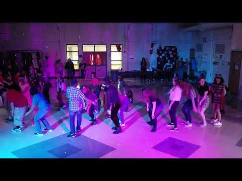 CHA CHA SLIDE WITH DJ SKY AT GRASP ACADEMY'S 2020 VALENTINE'S DANCE JAX,FL.