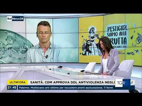 Pesticidi, siamo alla frutta su Rai News 24
