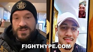 "TYSON FURY CONGRATULATES TEOFIMO LOPEZ; PICKED HIM ""DOING THE JOB"" ON LOMACHENKO A YEAR AGO"