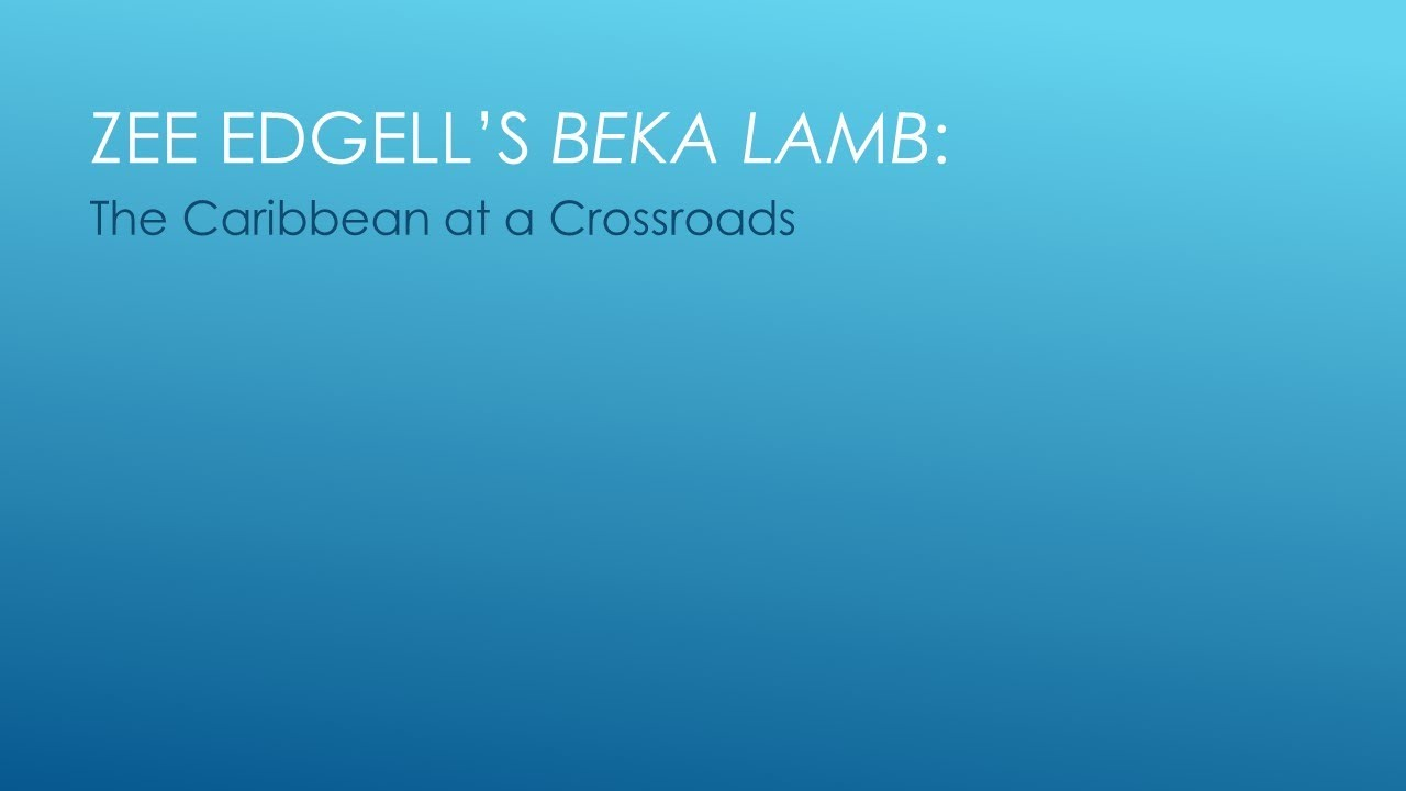 beka lamb Beka lamb is the debut novel of belizean author zee edgell it is the story of both beka and belize, an adolescent girl and an adolescent country.
