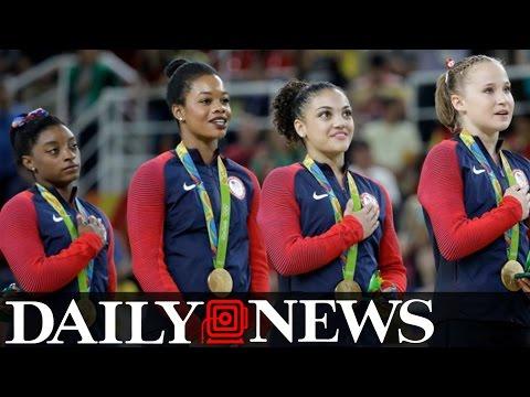 Gymnast Gabby Douglas Draws Criticism Over No Hand Over Heart During National Anthem