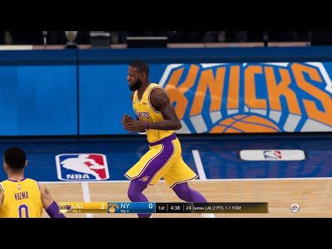 NBA LIVE 19 - Los Angeles Lakers Vs New York Knicks - PS4 PRO CPU SIM - HD