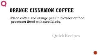 Orange Cinnamon Coffee