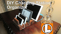 DIY $7.00 Charging Station Organizer For Your Smart Phones, Iphones, Ipads and Tablets