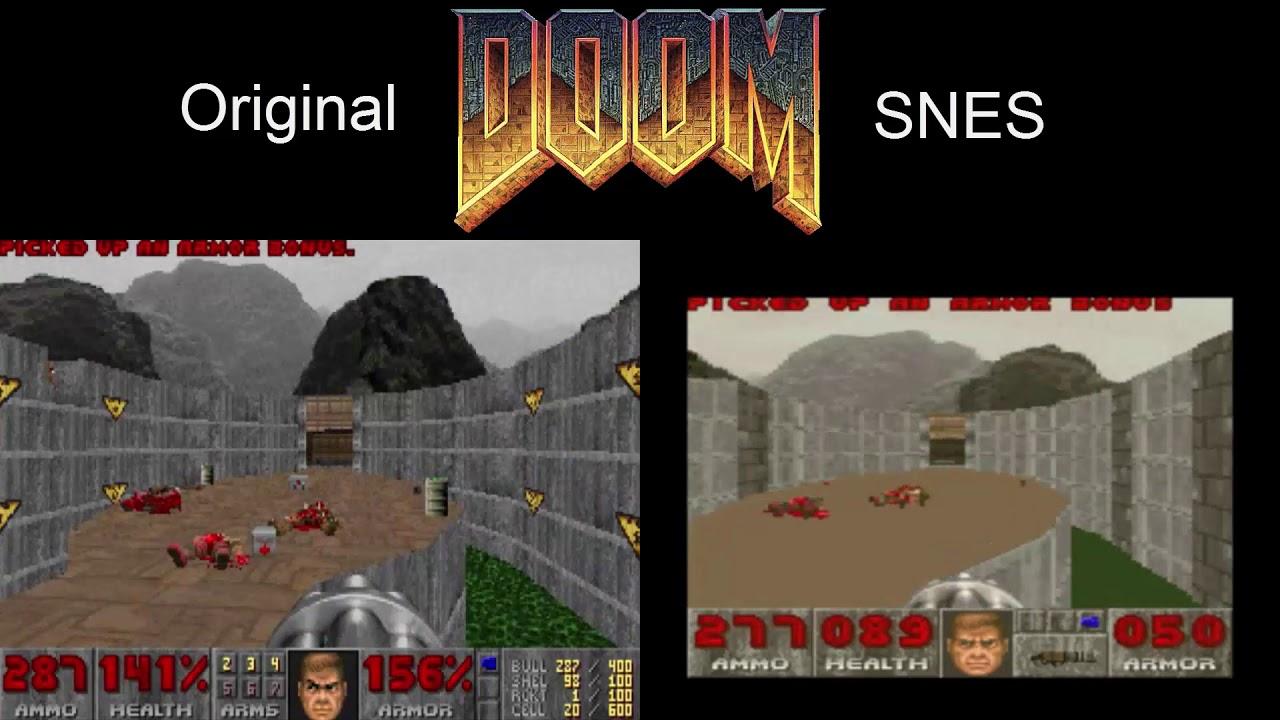 Doom [1993] PC vs SNES Comparison EP 1