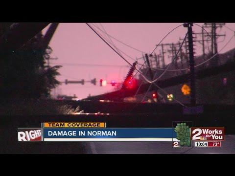 Storm Damage In Norman, Oklahoma