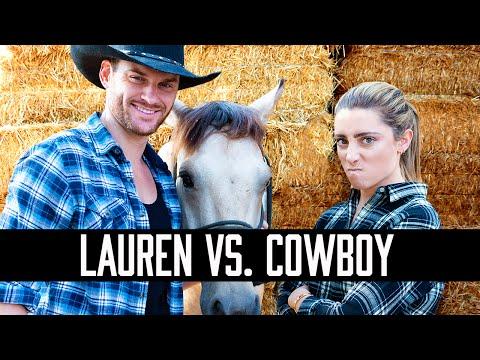 LAUREN VS. A COWBOY   HOW SMART IS LAUREN ELIZABETH
