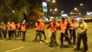 Walki uliczne w Warszawie 2014