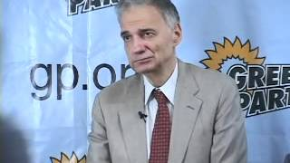 Ralph Nader Press Conference on Ballot Access held Green Party Convention 2007