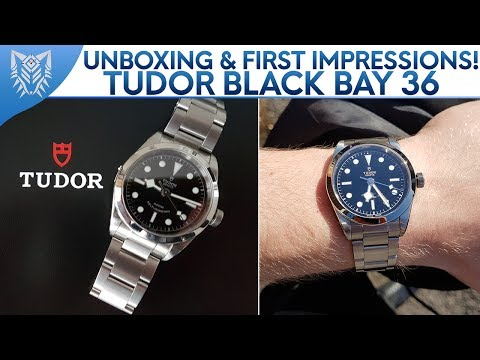 Tudor Black Bay 36 || Unboxing & First Impressions (Sticker Removal)