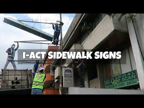 iACT Sign Sidewalk Clearing