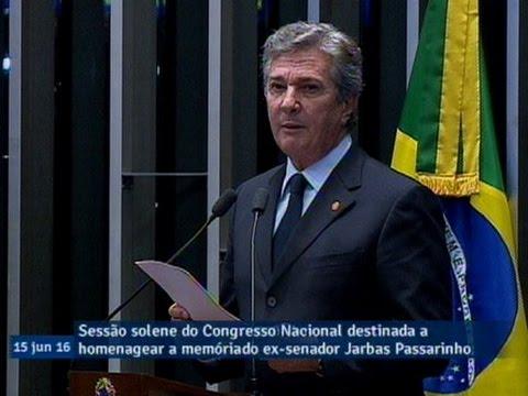 'Falar de Jarbas Passarinho é missão ao mesmo tempo complexa e instigante', diz Fernando Collor