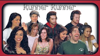 YouTubers react to Runner Runner - Merrell Twins