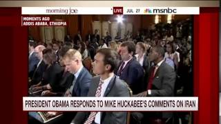 Obama calls out Huckabee and Trump at once