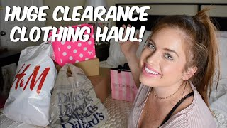 CLEARANCE SALE RACK  FALL CLOTHING TRY ON HAUL | Nordstrom Rack, H&M, Victoria