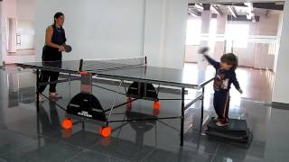 How To Teach You Kids From 2 Years Old  Play Table Tennis