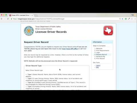 Texas.gov Driver Record Demo Video