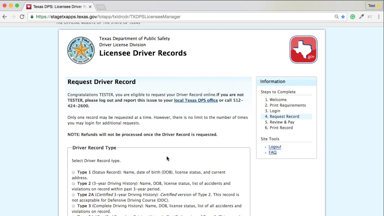 Texas Driver Record Demo Video Youtube